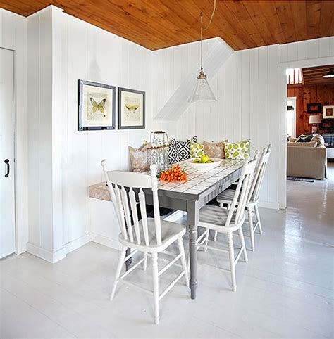Window Treatments For Dining Rooms by White Plank Floor Cottage Dining Room Laura Hay Decor
