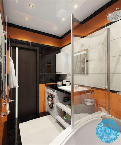orange and black bathroom small bathroom decorating idea in orange and black shade