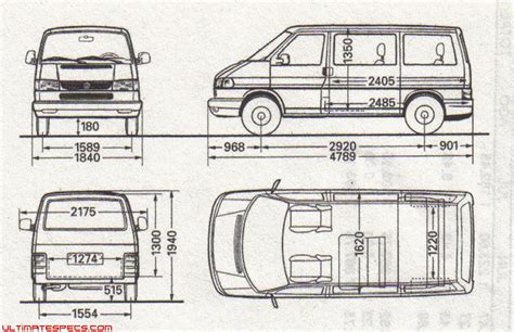 Drawing Blueprints volkswagen caravelle dimensions images