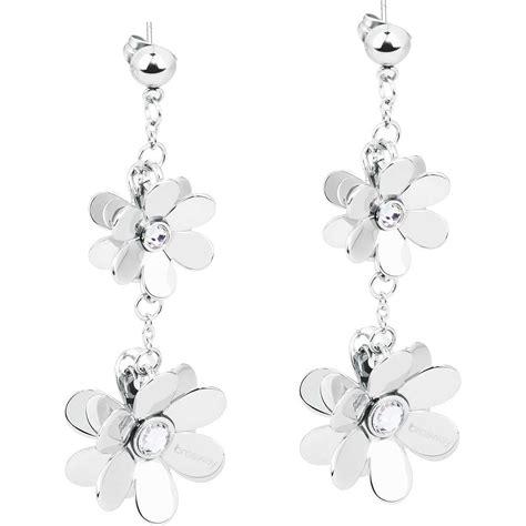gioielli con fiori orecchini brosway donna jardin con fiori e cristalli in