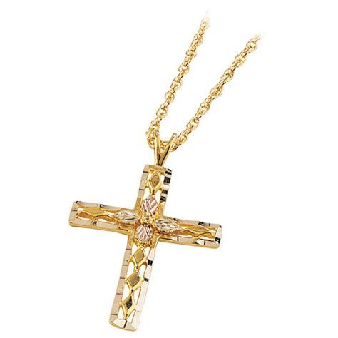 mt rushmore black gold 174 10k cut cross