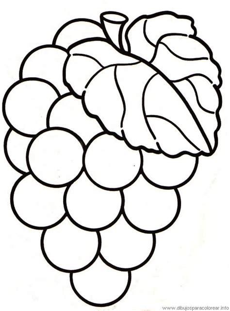 imagenes de pan y uvas para colorear uva dulce y sabrosa dibujalia dibujos para colorear
