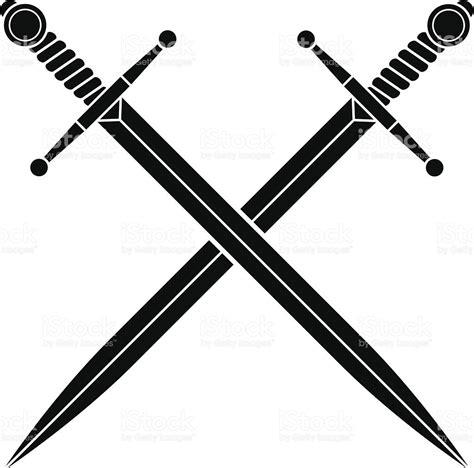 simple crossed swords stock vector art 165590923 istock
