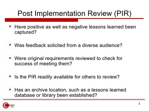 post implementation review template project closure checklist
