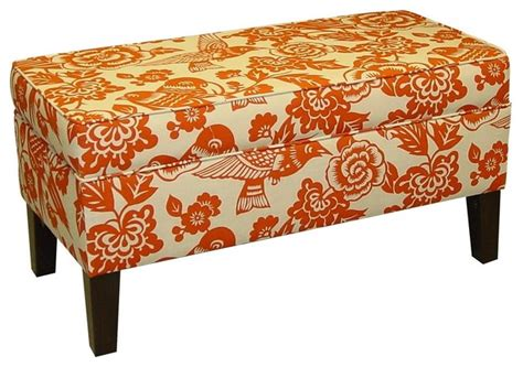 orange storage bench orange storage bench contemporary accent and storage