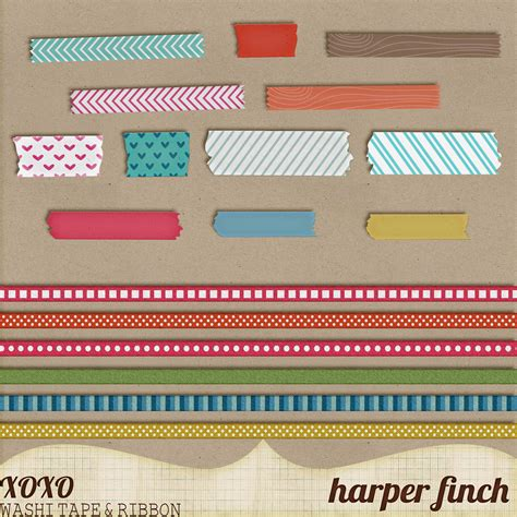 pattern making tape in the woods washi tape and ribbon by harper finch by