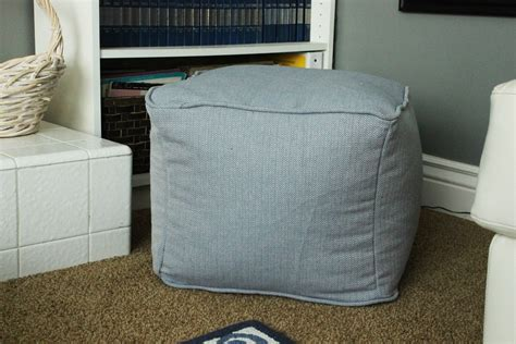 how to make pouf ottoman diy pouf ottoman cube