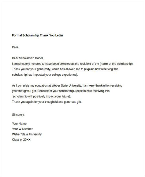 thank you letter to for formal thank you letter 10 free word pdf documents