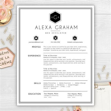 Monogram Template Cv Template And Resume Templates On Pinterest Monogram Resume Template