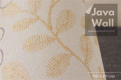 jual wallpaper dinding diva dv motif daun warna gold