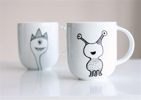 mugs design 50 diy sharpie coffee mug designs to try bored art