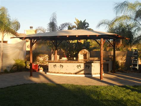 Palapa Covers Custom Outdoor Kitchen Solid Roof Palapa Style