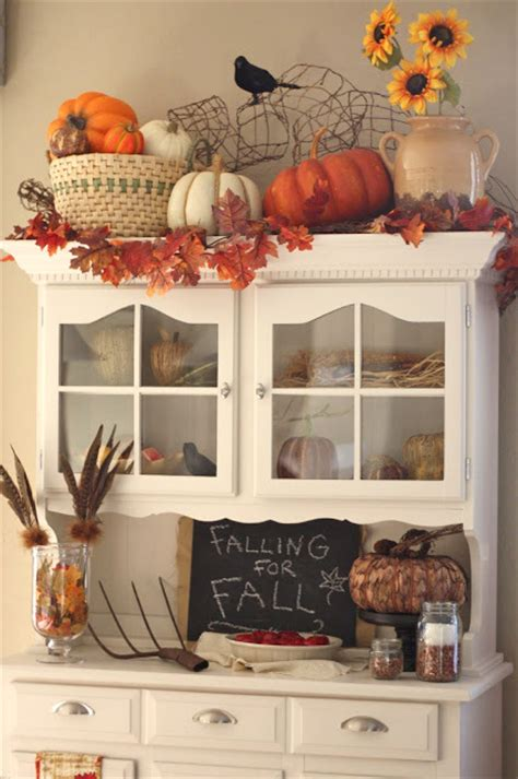 Decorating Ideas For A Kitchen Hutch Fabulous Fall Decor Ideas