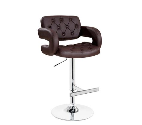 contempory bar stools dreamfurniture com t1084 eco brown leather