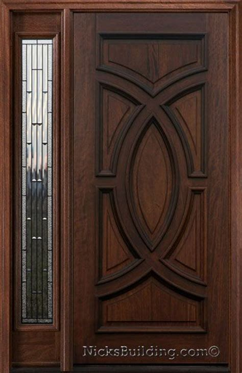 Front Entry Doors With One Sidelight Exterior Entry Doors With 1 Sidelight Solid Mahogany Entry Doors Entry Doors And Awesome