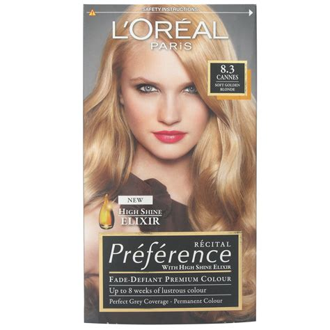 l39oreal preference hair dye 3 l oreal recital preference 8 3 cannes soft golden