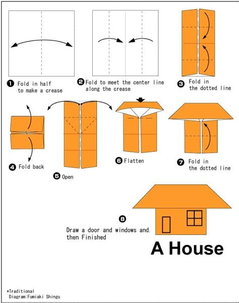 How Do You Make A Paper House - how to make origami house stem explorers
