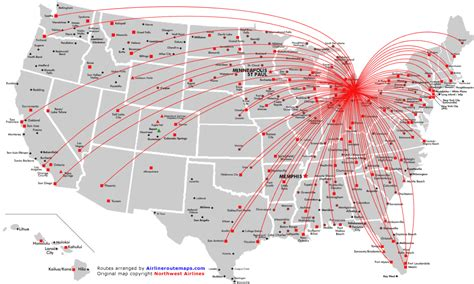 airline hubs of north america kids maps northwest airlines route map north america from detroit