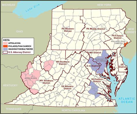 us map mid atlantic region organized crime enforcement task region