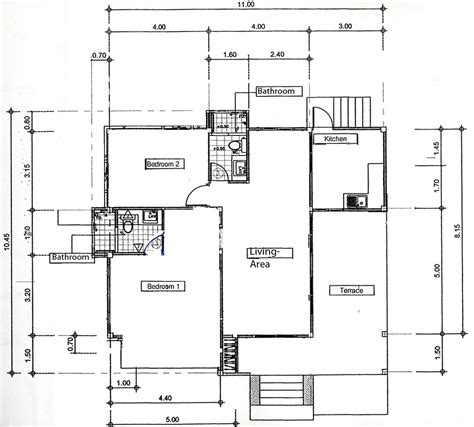 bungalow ground floor plan bungalow thailand holiday apartments ban phe
