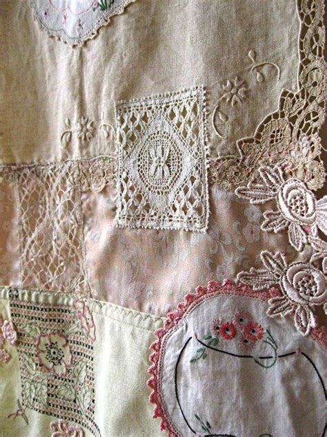 Lace Patchwork - home decor table runner vintage lace embroidered