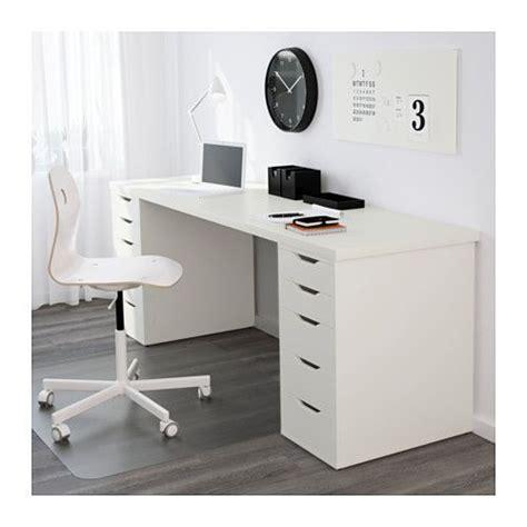 ikea lade tavolo linnmon tafelblad wit bo ikea werkkamer wit en