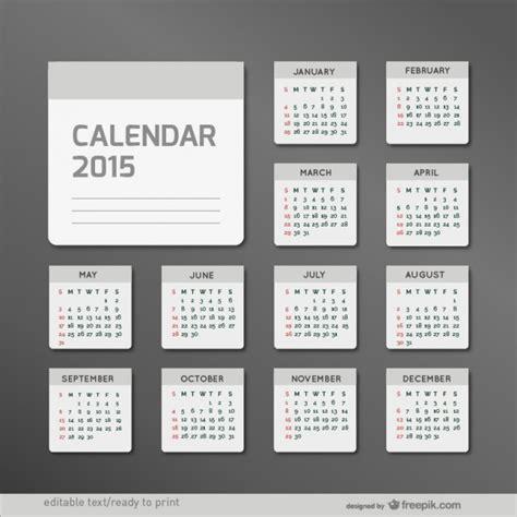 Calendario Ist 2015 Minimalistische Kalender 2015 Der Kostenlosen