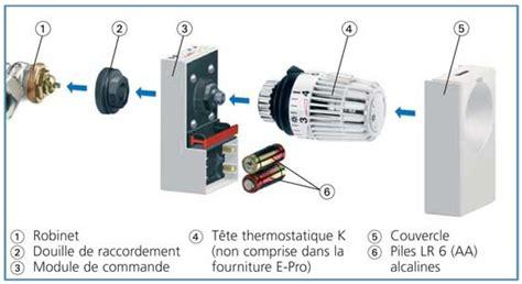Montage Robinet Thermostatique by Programmateur Intuitif Et Simple Pour Robinets Thermostatiques
