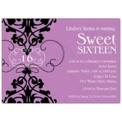 16th birthday invitations templates fleur lavender sweet 16 invitations paperstyle