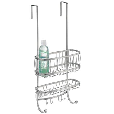 Interdesign York Lyra Bathroom Over The Door Shower Caddy Shower Caddy The Door