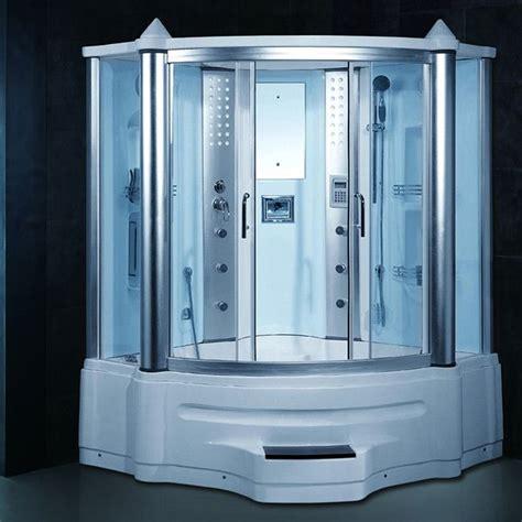 bathtub steam shower combo gemini steam shower whirlpool tub combo with lcd tv tvs