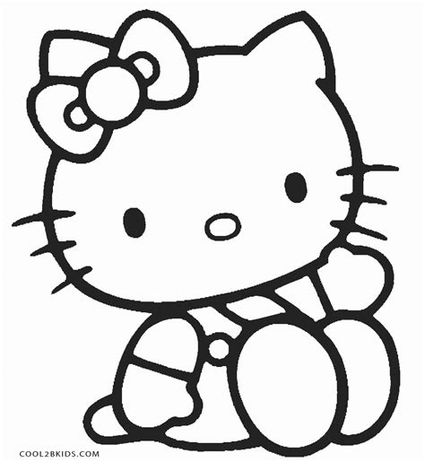 coloring page kitty free printable hello kitty coloring pages for pages