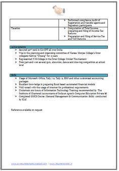 sample template   excellent company secretary resume