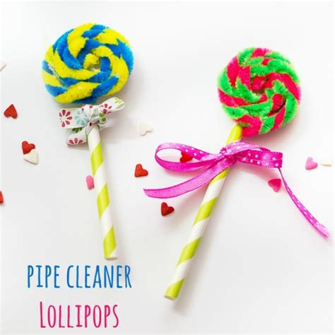 lollipop craft pipe cleaner lollipops make and takes