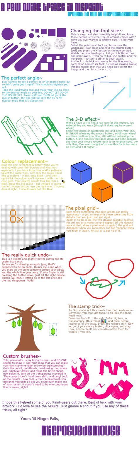 8 tricks in mspaint by microsuedemouse on deviantart