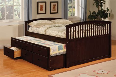 bed with trundle up to 30 size captain bed with trundle drawers walnut