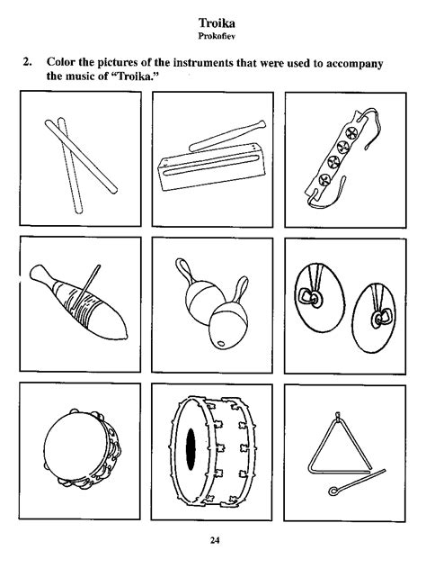coloring pages percussion instruments adventures in music listening book coloring j w pepper