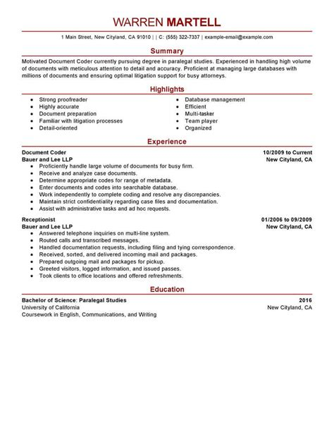 Coding Resume by Best Coding Specialist Resume Exle Livecareer