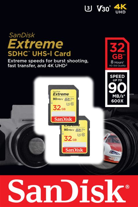 Sd Card Sandisk Pro Sdhc Uhs I 32 Gb Speed Up To 95 Mb 1 sandisk 32gb sdhc uhs 1 memory card 2 pack ebuyer