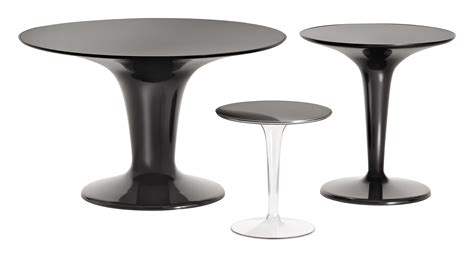 tip top end table glossy black by kartell