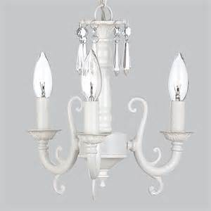 kids small crystal chandelier light fixture white nursery