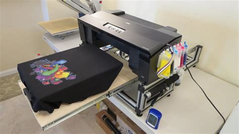 mesin printer dtg a2 epson epson 1430 nikko dtg v1 printing on t shirt