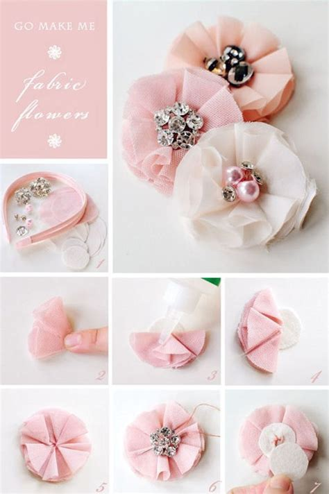 How To Make Handmade Fabric Flowers - diy fabric flowers pictures photos and images for