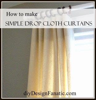 how to make curtains out of canvas drop cloths 1000 images about window dressings on pinterest window