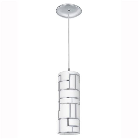 white glass pendant light eglo 92562 bayman single white glass and chrome pendant light
