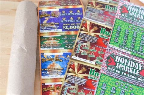 Can You Buy Lottery Tickets With A Gift Card - nj lottery tickets christmas tree gift idea courtney s sweets