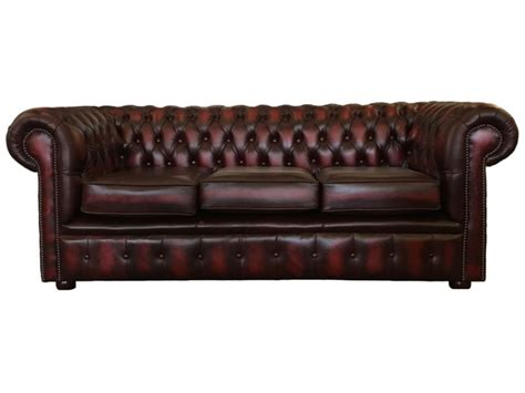 chesterfield sofa company reviews chesterfield real leather oxblood red 3 seater sofa bed