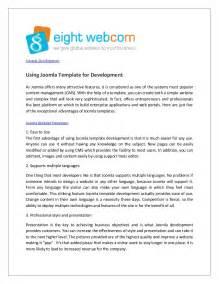 Using Joomla Template For Development Joomla Template Developer