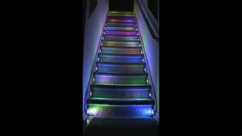 Wood Banister Stairs Rgb Led Illumination Project Youtube