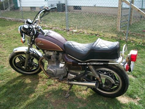 1981 honda cm 4oo custom motorcycle
